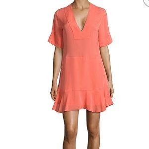 🧡A.L.C. NWT Delaney Coral Silk Shift dress